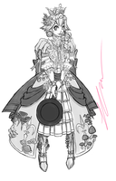 Princess Peach: War Cleric (Quick shading WIP) by CoronaDiTempesta