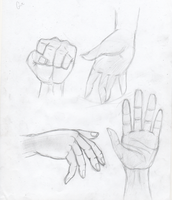 Practice Hand Drawings by FoxFever101