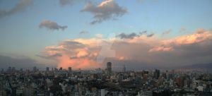 Osaka Sunset by stevezpj