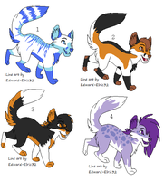 CHEAP Fox adoptables.OPEN-1 LEFT by KayAdoptables