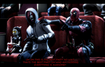 Watching Deadpool by WitchyGmod