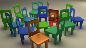 Random Colored Chairs by chrishillman
