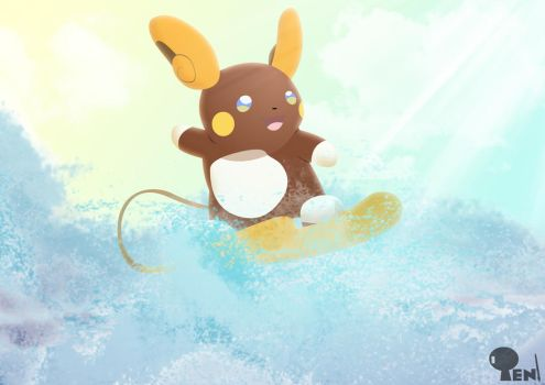 Conguito my Raichu Alola by LightDragon87