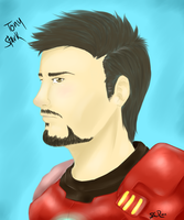 Tony Stark by Valkinerie