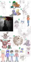 South Park Sketch Dump 3 by Dragongirl9888