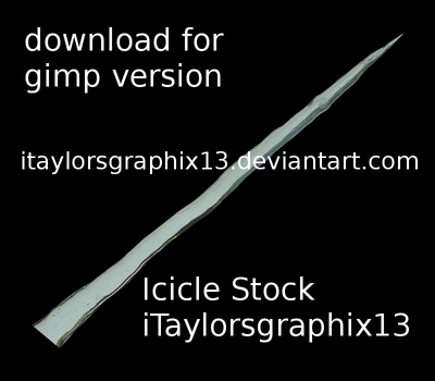 Icicle Stock 1 - GIMP by itaylorsgraphix13