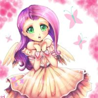 My Little Pony: Human Fluttershy by kankitsuru
