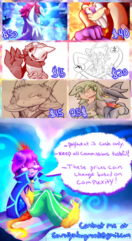 Updated Comission Sheet by Nights2Dreams