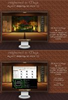Enlightenment with Maya - my e17 desktop by rvc-2011