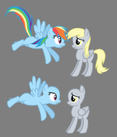 Rainbow and Derpy by BronyBase