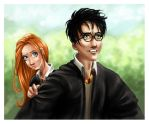 Harry and Ginny's Goodbye -HBP by chishirou