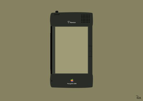 Apple Newton MessagePad 2000 by raintomista