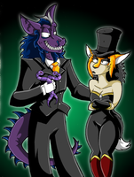Beetlejuice'd Ludwig and Shade by KaylaTheDragoness
