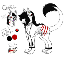 Quinn Ref - Main Fursona by CryingCrows