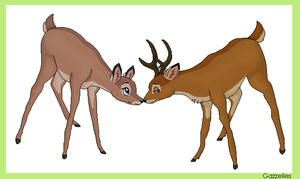 Bambi x Faline :: Spring Love by Gazzelles