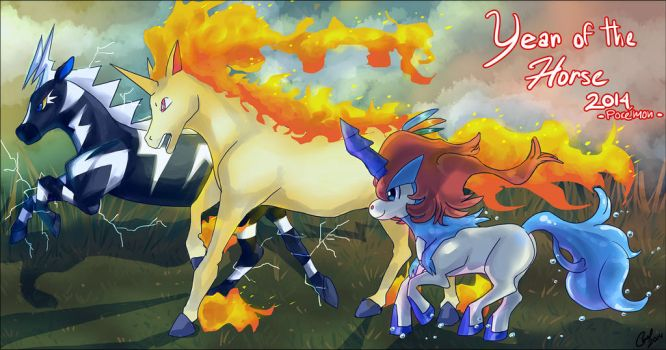 Year of the Horse 2014 by carolriverart