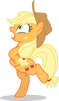 Mlp Fim Applejack (Chicken) vector by luckreza8