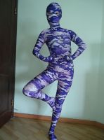 Dancing in Camouflage zentai by mysexyzentai