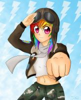 Pilot Rainbow Dash by steffy-beff