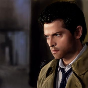 Castiel (Misha Collins) Portrait by rainwalker007
