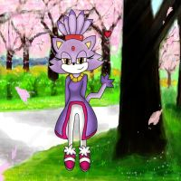 Blaze the Cat .:Cherry Blossoms:. by 116555