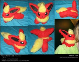 Flareon shoulder buddy by Neon-Juma