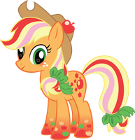 Rainbow Power Applejack Vector by icantunloveyou