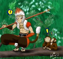 Sun Wukong for my brother by Black-Orochimaru