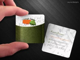 Square Sushi Business Card by axylus