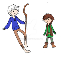 Adventure Time style Jack and Hiccup by fushicho07