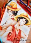 D- Brothers. Ace and Rufy by ClauLittlePortgas