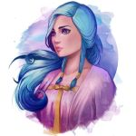 Girl with Blue Hair by PetraImboden