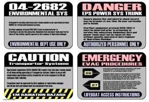 Warning Labels Star Trek Style by Euderion