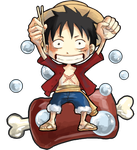 Monkey D. Luffy :: niku by a3107