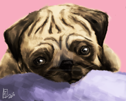 Pug by WaffleMaker9000
