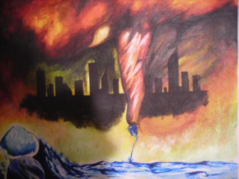 Tornadoe and cityscape by FTPDGeneration