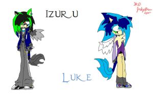 Izuru and Luke Profiles by ChaosBlast06