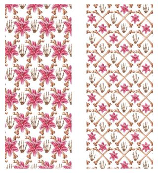 Pattern design - Skull and lilly by brunoces