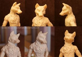 Anthro wolf again (face close-up photos) by Victoria-Poloniae