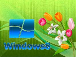 Windows 8 Green Wallpaper by SaimGraphics