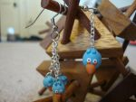 Blue Angry Bird Earrings by Menouthys