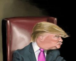 Donald Trump Caricature by DoodleArtStudios