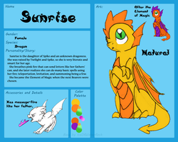 Sunrise Reference Sheet by IceOfWaterflock