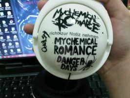 my MCR painted headphones 1 by mychelromance