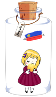 Liechtenstein in a Bottle by Amaii-Shiawase