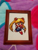 Sailor Moon Video Game Sprite Cross-stitch by thepurpleparadox