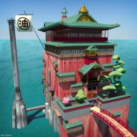 Spirited Away Bathhouse by alanbecker