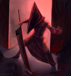 . Red Pyramid Head . by Alimika