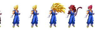 Dragon Ball Z Extreme Butden Vegito Transformation by EnlightendShadow