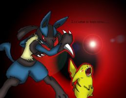 Lucario and Pikachu by Demonic-Chrono